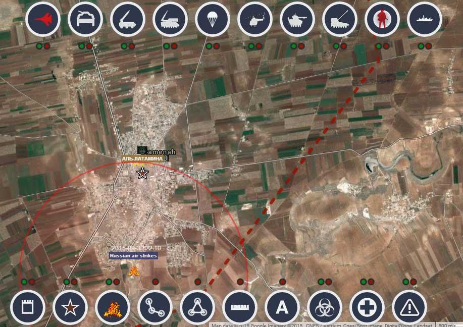 Руски ваздушни напади у Сирији